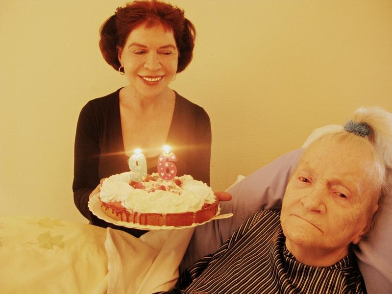 FUJI BEW ORIG -  digionbew VIIIJ - 27-08-14 My mother and me on her 95birthday, 27 August 2014 - Copy